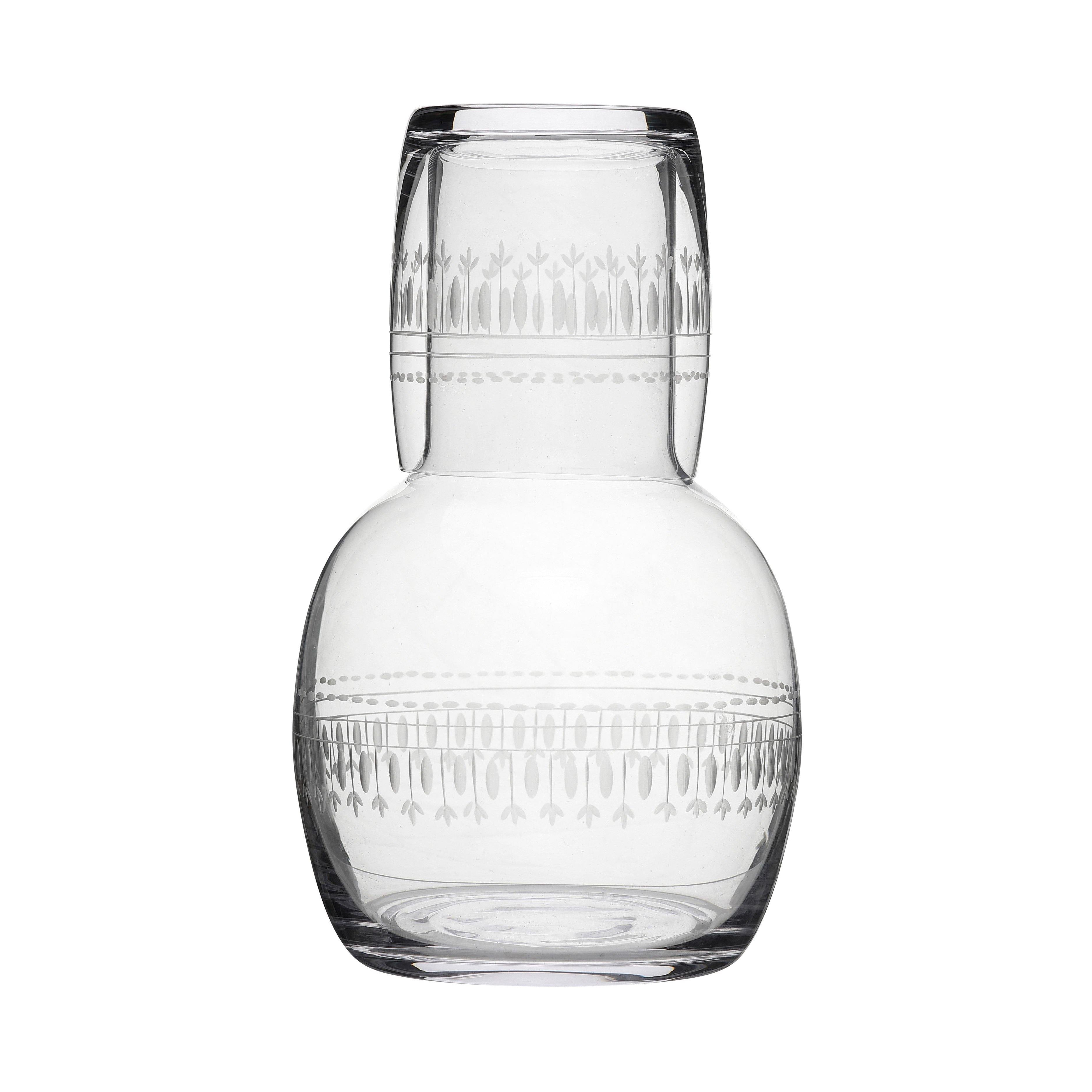 Carafe with Glass and Oval Design