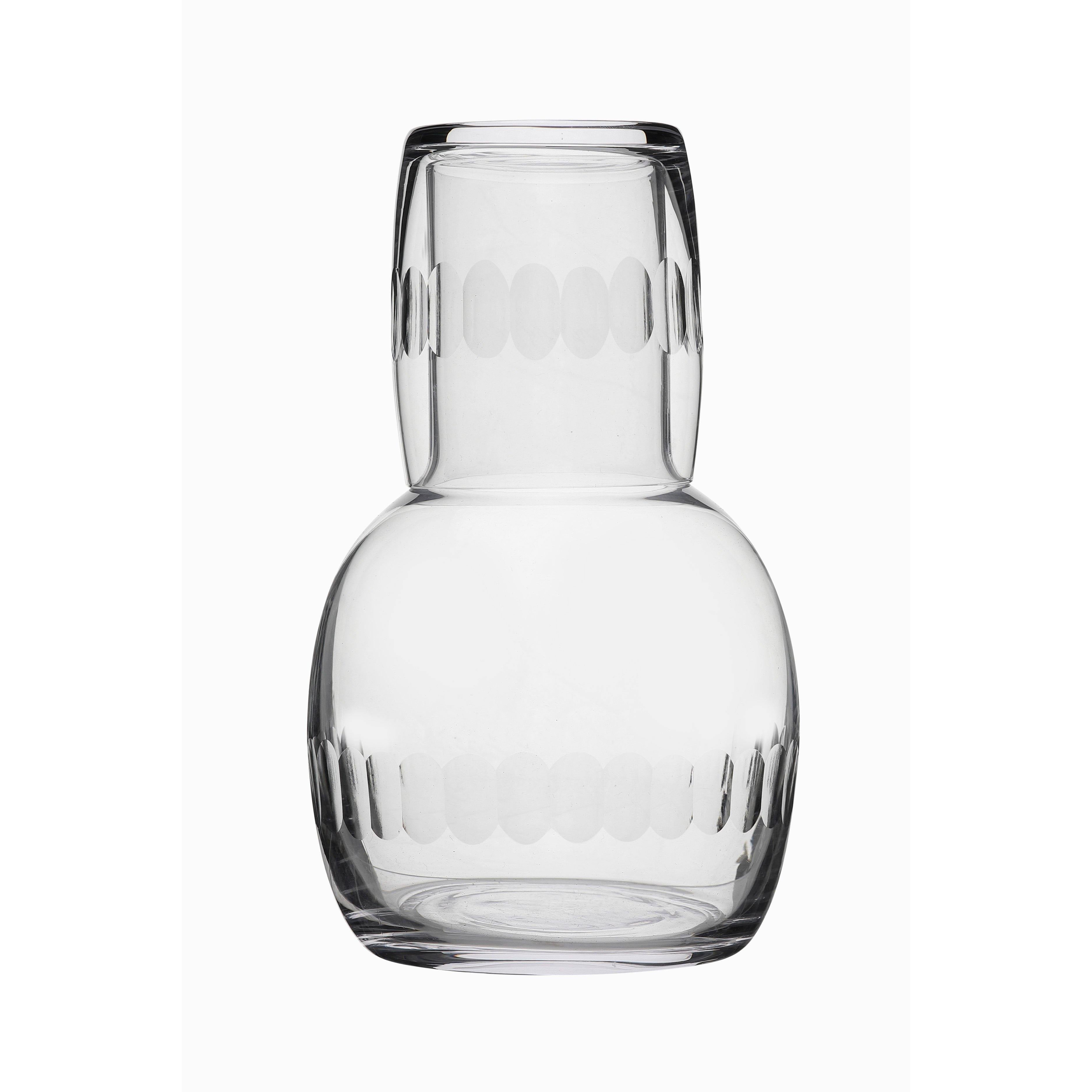 Carafe with Glass and Lens Design