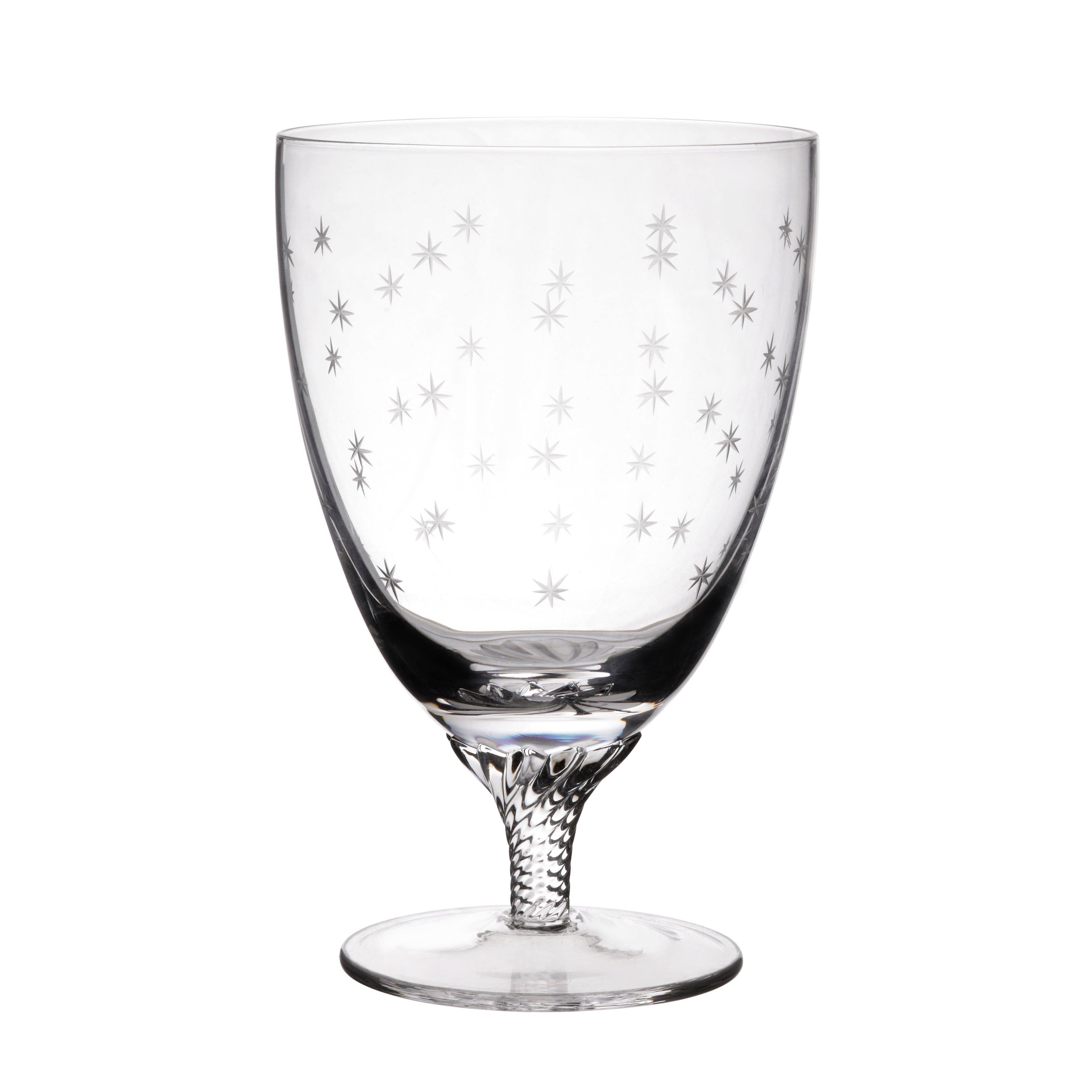Bistro Glasses with Stars - Set of 6