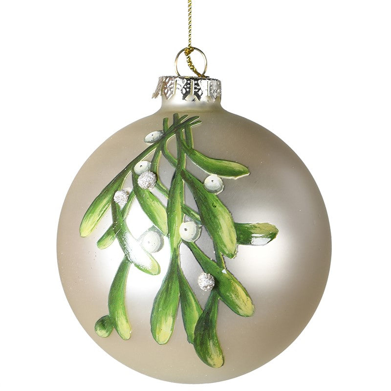 Mistletoe Glass Bauble