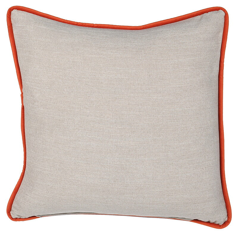 Linea Art Cushion Cover with Orange Trim
