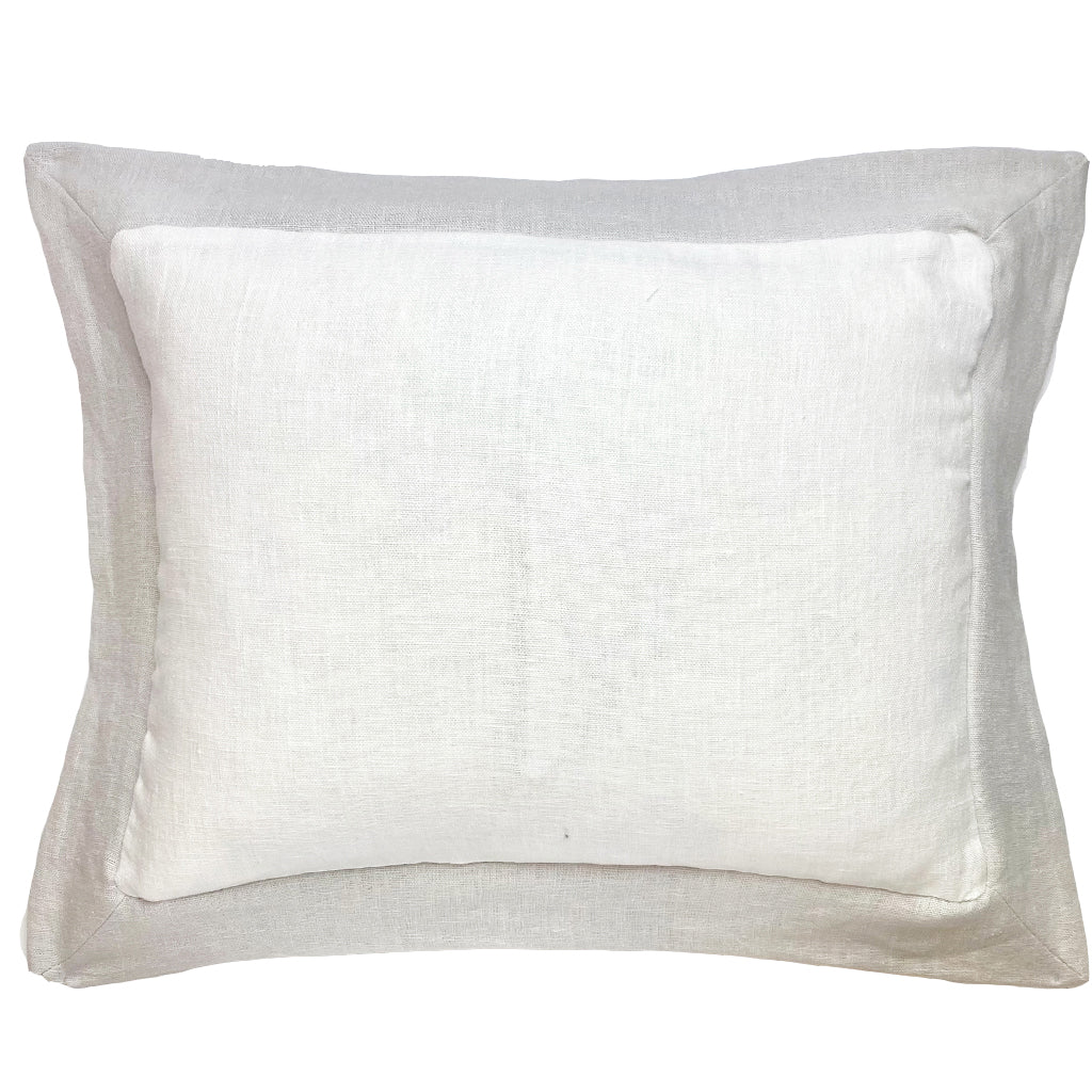 Elizabeth Stanhope Linen Breakfast Cushion / String Oxford Edge