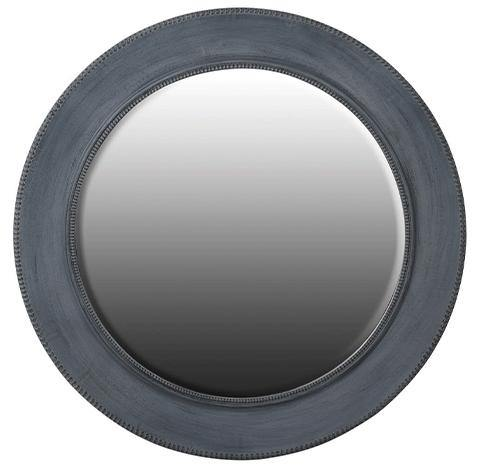 Charcoal Round Mirror