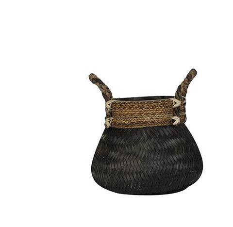 Basket Bongas Bamboo black Small