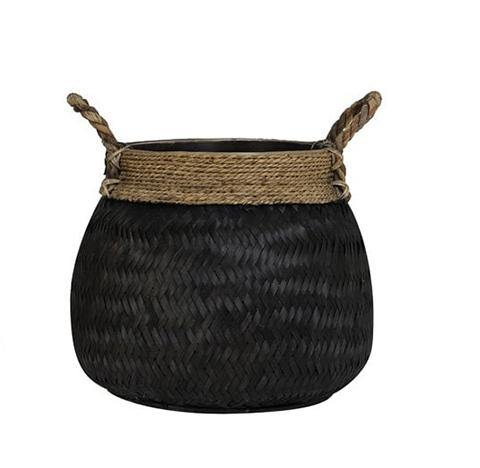 Basket Bongas bamboo black Large