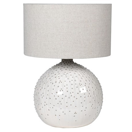 White Ball Table Lamp