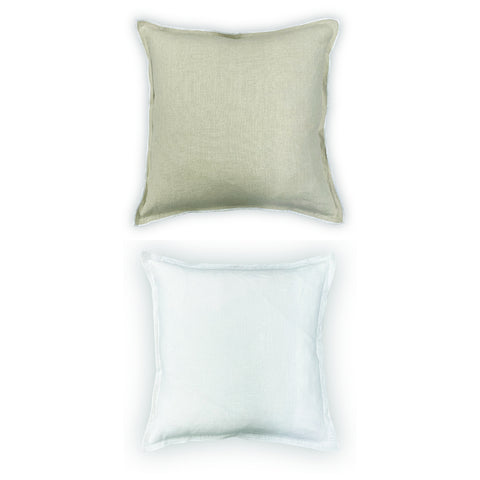 Elizabeth Stanhope Aurelia Linen Cushion / Natural & White