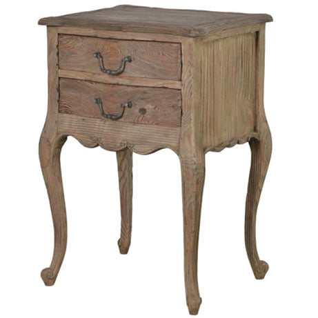 Colonial 2 Drawer Bedside