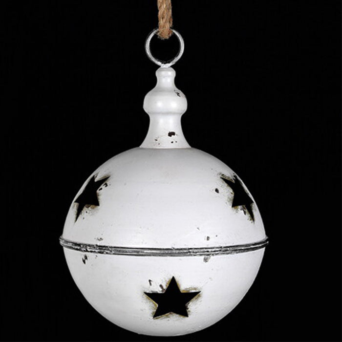 Large White Metal Bell