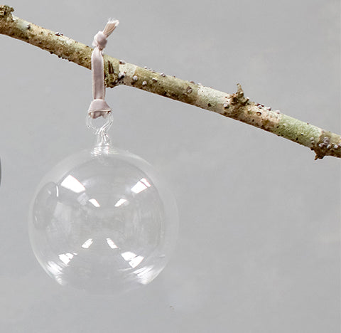 Tikari Glass Bauble - Clear - Small