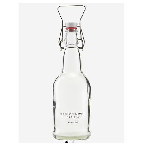 Bottle with Patent Plug Clear
