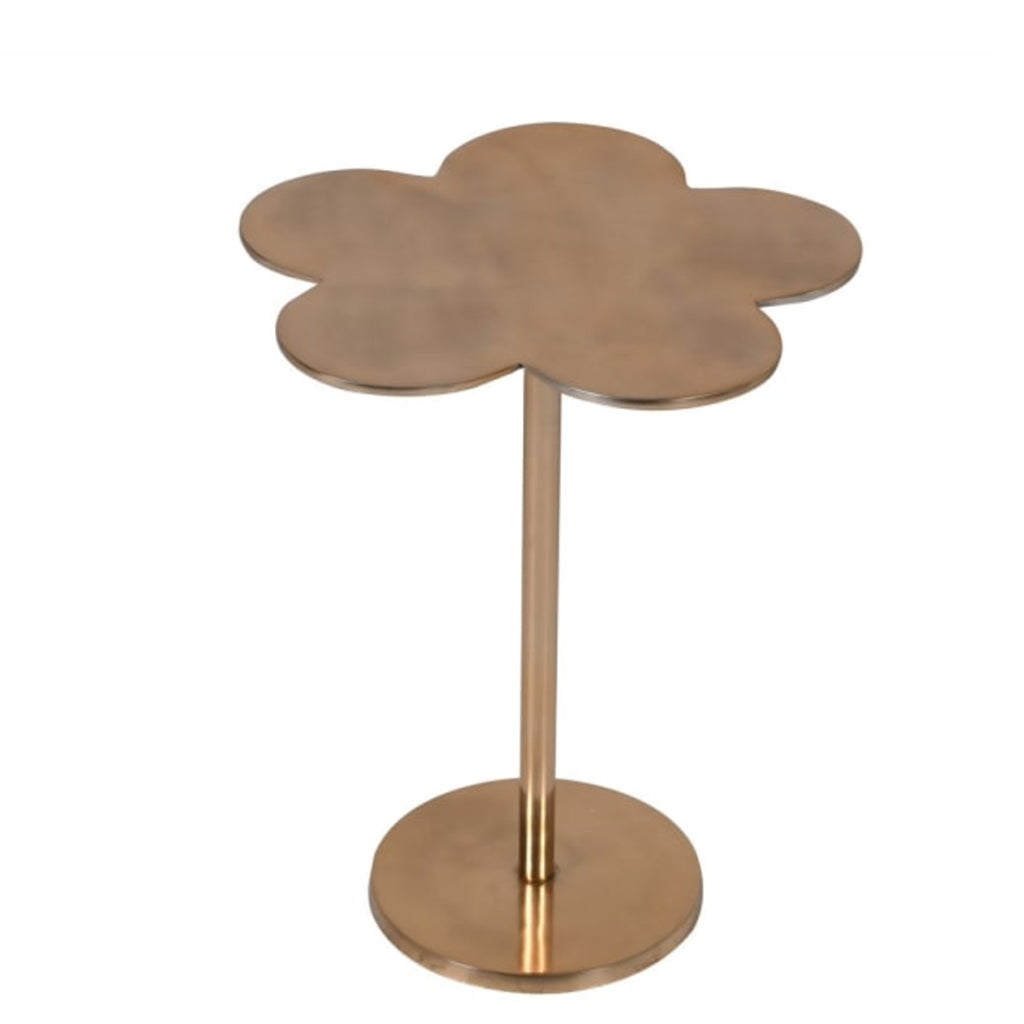 Gold Clover Leaf Side Table
