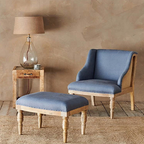 Elbu chair, Storm blue
