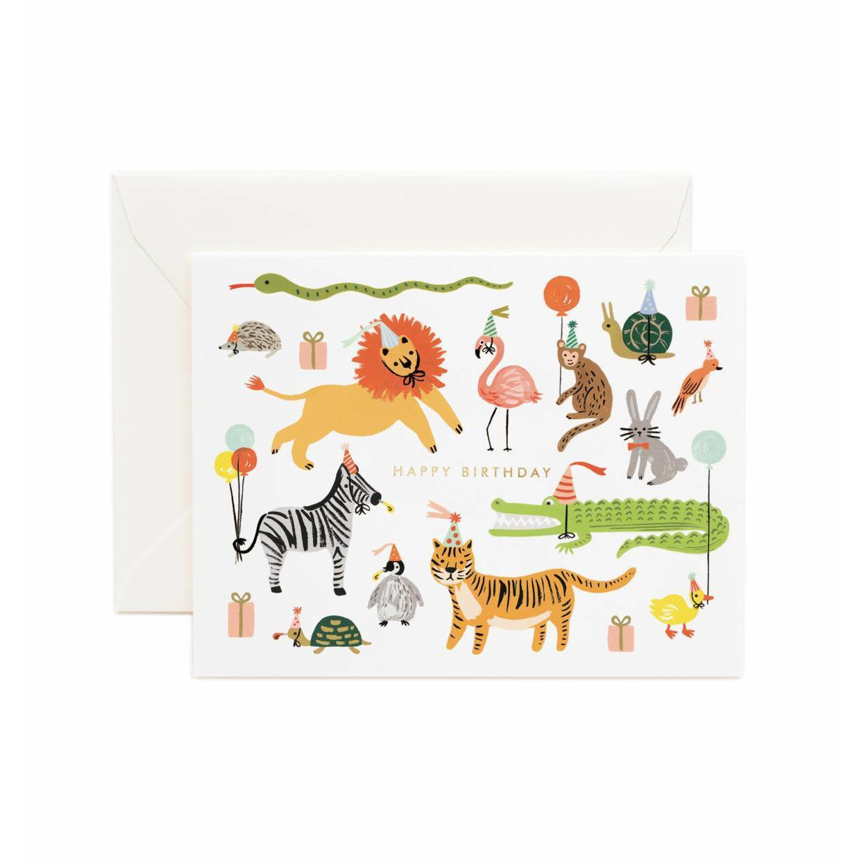 Birthday Greeting Card Party Animals
