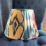 Pleated shade 36cm blue/nat heart