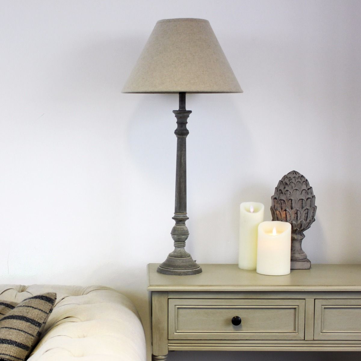 JESSIE LAMP BASE & NATURAL LINEN SHADE