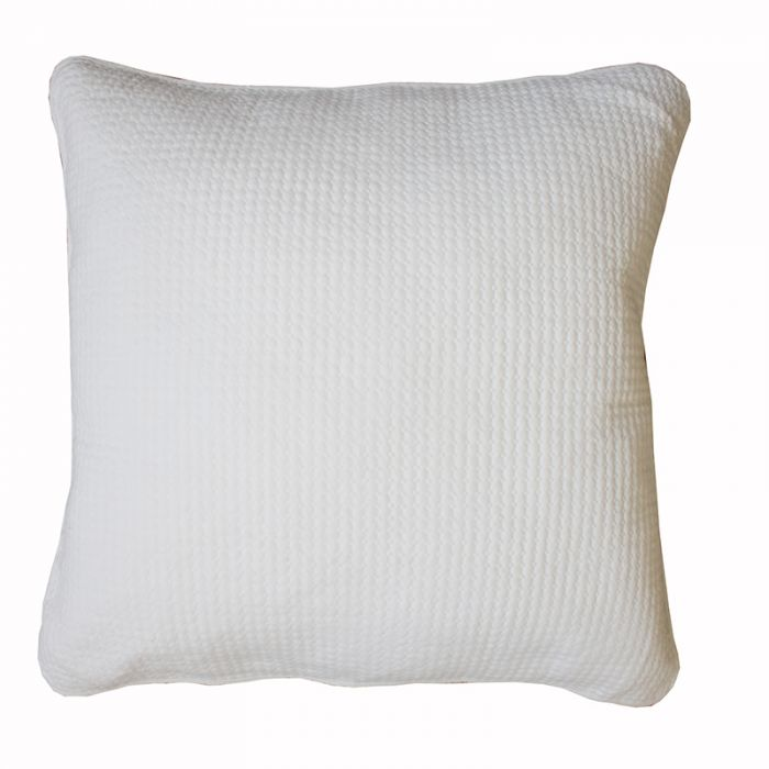 Leah Sham Cushion  - White