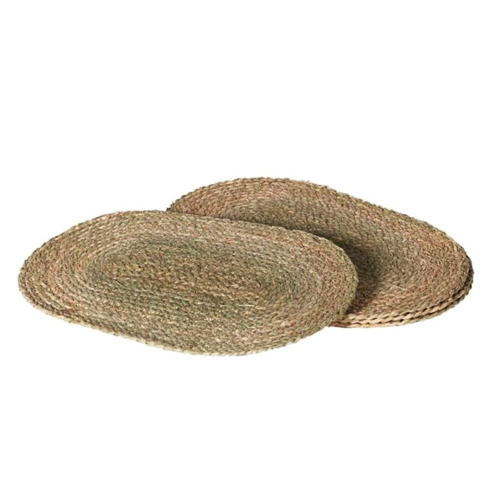 S/4 Oval Seagrass Placemats