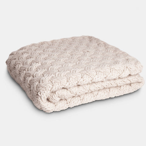 Sand Knitted Throw