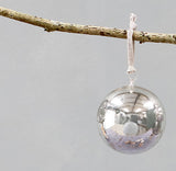 Tikari Glass Bauble, Silver