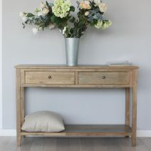 Tetbury grey/nat console table
