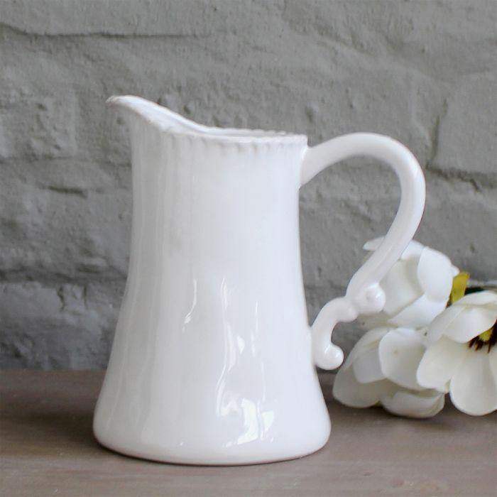 Annmarie Water Jug - White