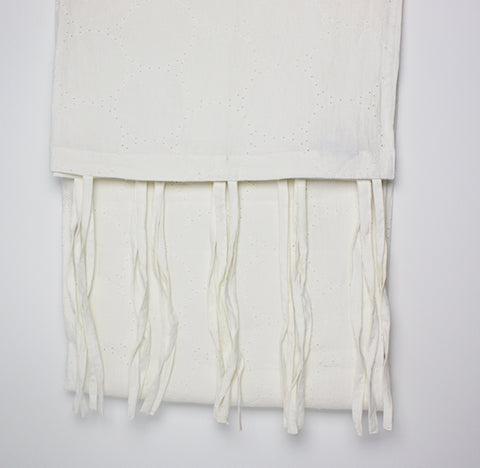 Elizabeth Stanhope Plain Dyed Linen  Panel / White