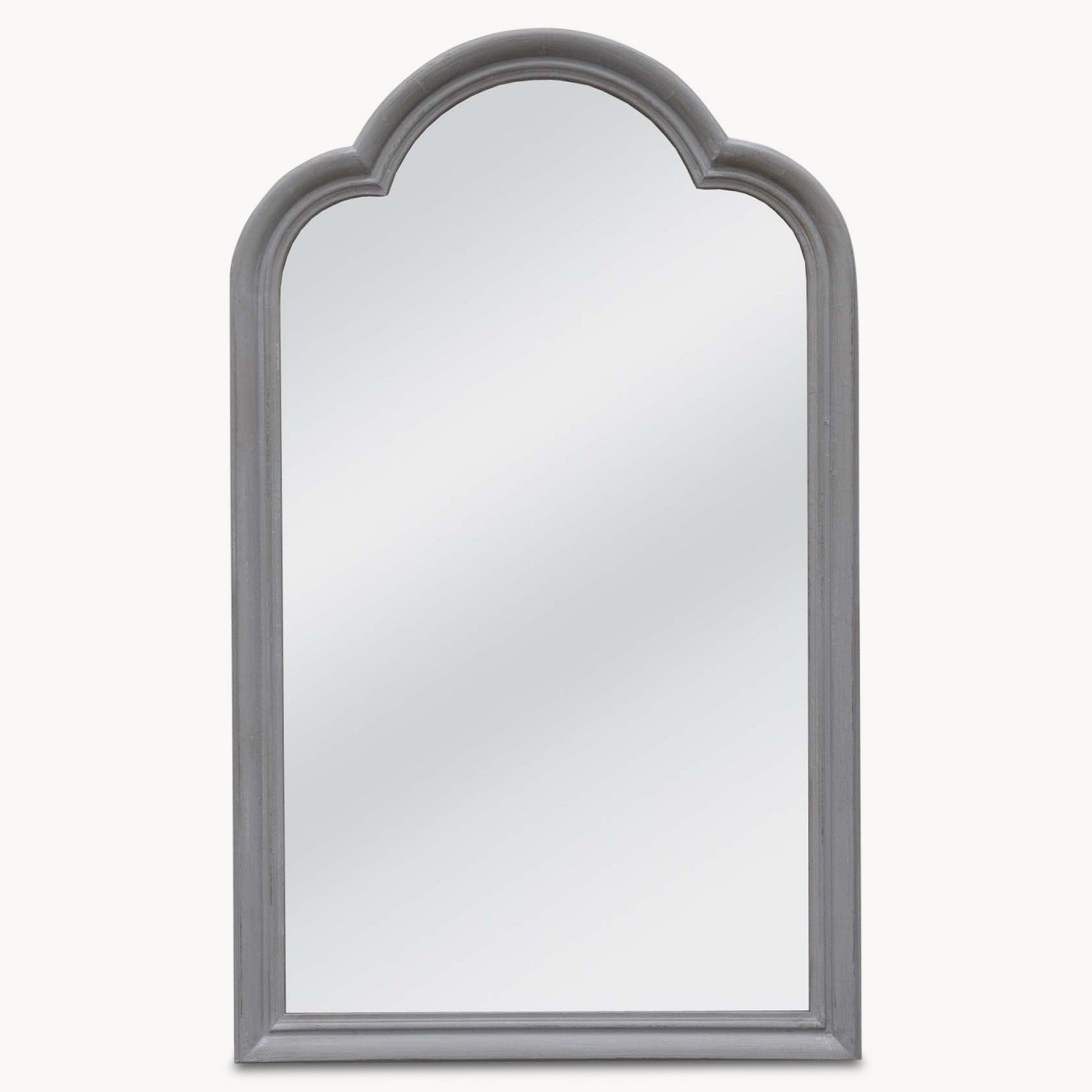 WILTON GREY ROUNDED MIRROR
