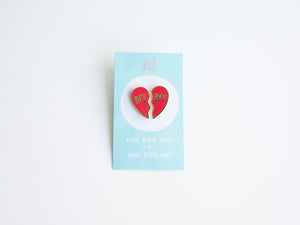 BFF  Heart Enamel Pin