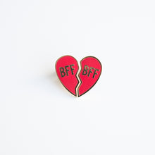Load image into Gallery viewer, BFF  Heart Enamel Pin