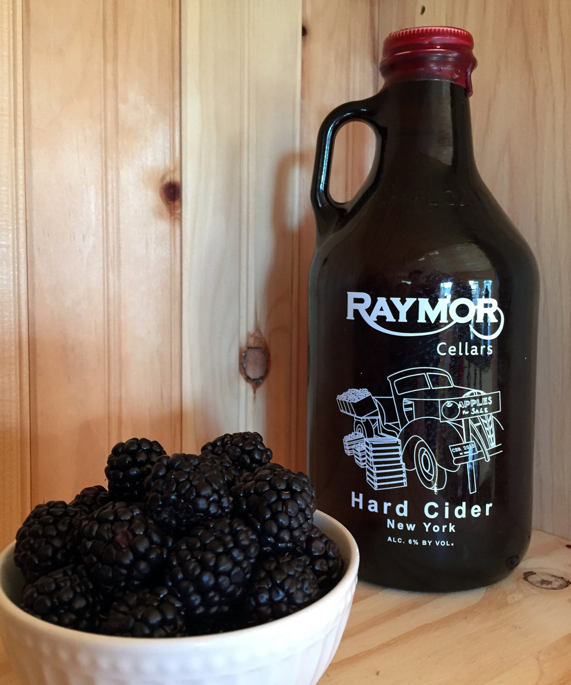 Our Black Berry Apple Hard Cider is a blend of eight different apple varietals with the addition of Black Berry. The cider is sweet with a definite black berry and apple flavor. Tastes like no other.     Percentage of Alcohol: 6%. Price is $15.00.