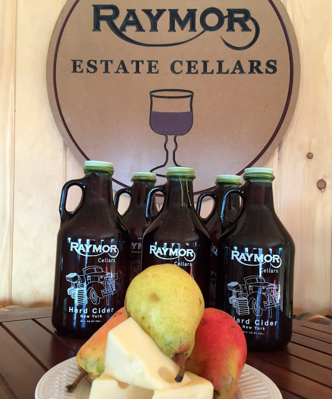 Our Pear Apple Hard Cider is a blend of eight different apple varietals with the addition of Pear. The cider is sweet with a definite pear and apple flavor. Tastes like no other.     Percentage of Alcohol: 6%. Price is $15.00.
