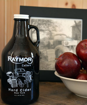 Our Original Apple Hard Cider is a blend of eight different apple varietals. Noted for its delicious apple pie taste.  Percentage of Alcohol: 6%. Price is $15.00.
