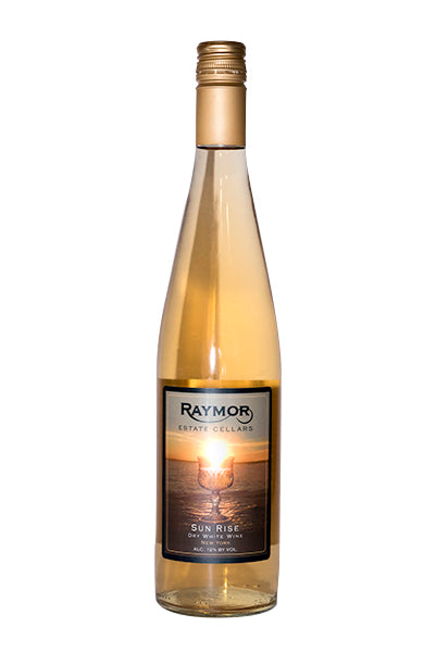 Sun Rise is a blend of three New York State Grape Varietals; Riesling, Seyval Blanc, and Isabella. This blend is fruit forward with hints of citrus, cranberry and raspberry. This white wine pairs well with a wide variety of foods allowing you to create your own pairings.