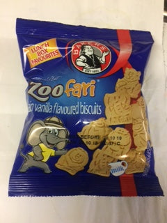 Bakers Mini Zoo-Fari Plain Vanilla Biscuits 40gm
