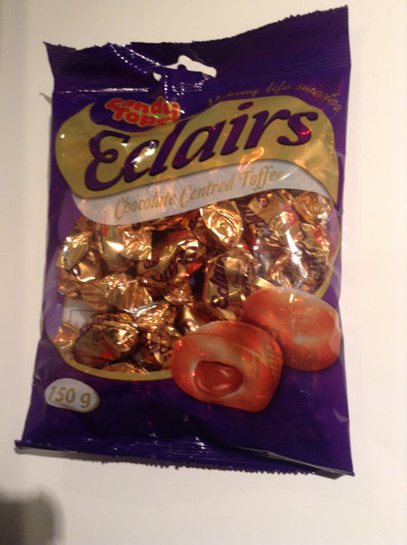 Candy Top Eclair Caramel Flavoured Toffees with a Chocolate Centre 150gm