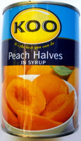 Koo Peach Halves 410gm