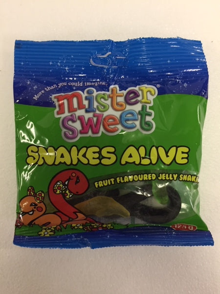 Mister Sweet - Snakes Alive (Fruit Flavoured Jelly Snakes) 125gm