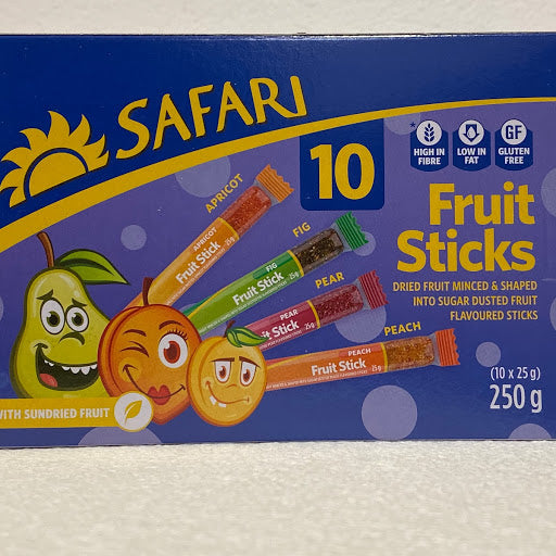 Safari Fruit Sticks 10's