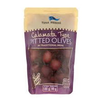Tuna Marine Calamata Pitted Olives in Traditional Brine (Doy Pack) 180gm