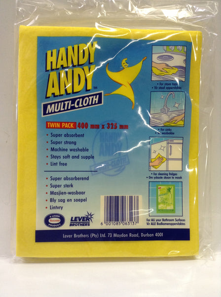 Handy Andy Multicloth (Twin Pack) 400mm x 325 mm