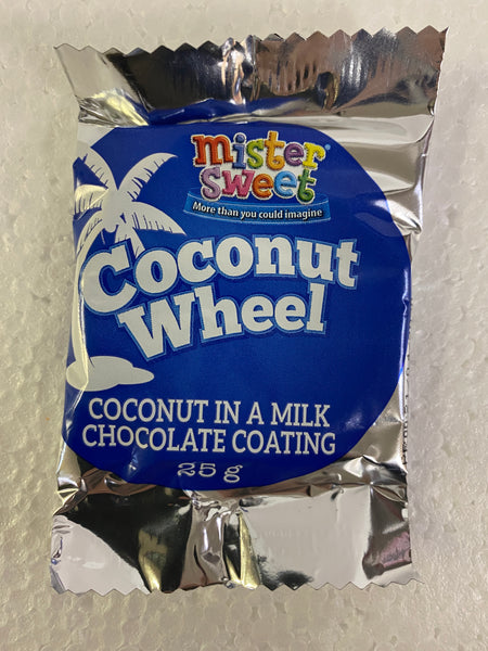 Mister Sweet Coconut Wheels 25 gm (Coconut in milk chocolate coating)