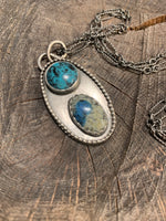 K2 and Turquoise and silver pendant