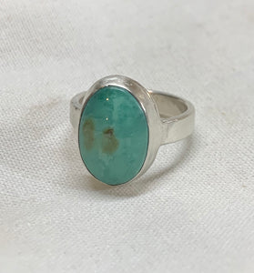 Sterling silver handmade Happy Variscite ring