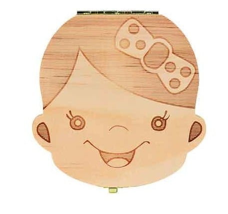 Image of Wooden Baby Tooth Box