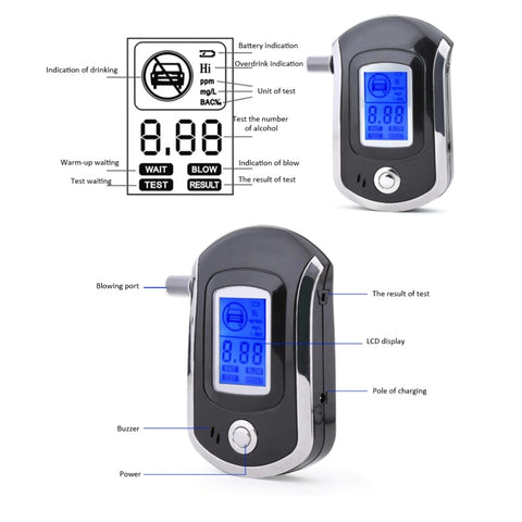 Image of breathalyzer Professional Digital Breath Alcohol Tester