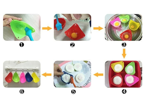 Image of Silicone Egg Poachers (2Pcs/Lot)