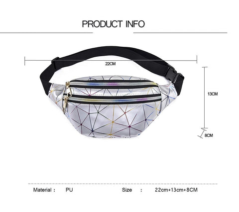 Image of Holographic Fanny Pack / Waist Bag