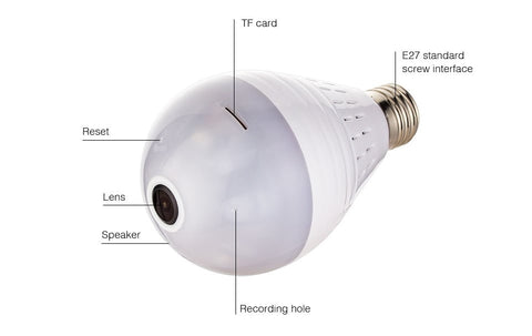 Smart Security Camera LED Light Bulb
