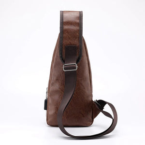 Men's Crossbody Bag USB